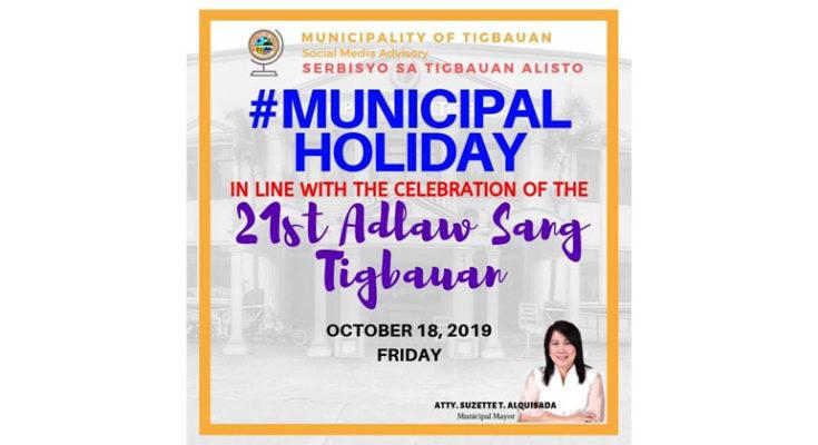 Adlaw sang Tigbauan founding anniversary.
