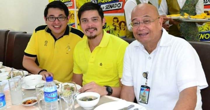 Vic Facultad with Bam Aquino and Dingdong Dantes