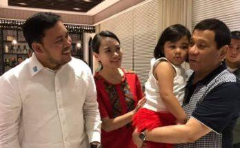 Mark Villar and family with President Duterte
